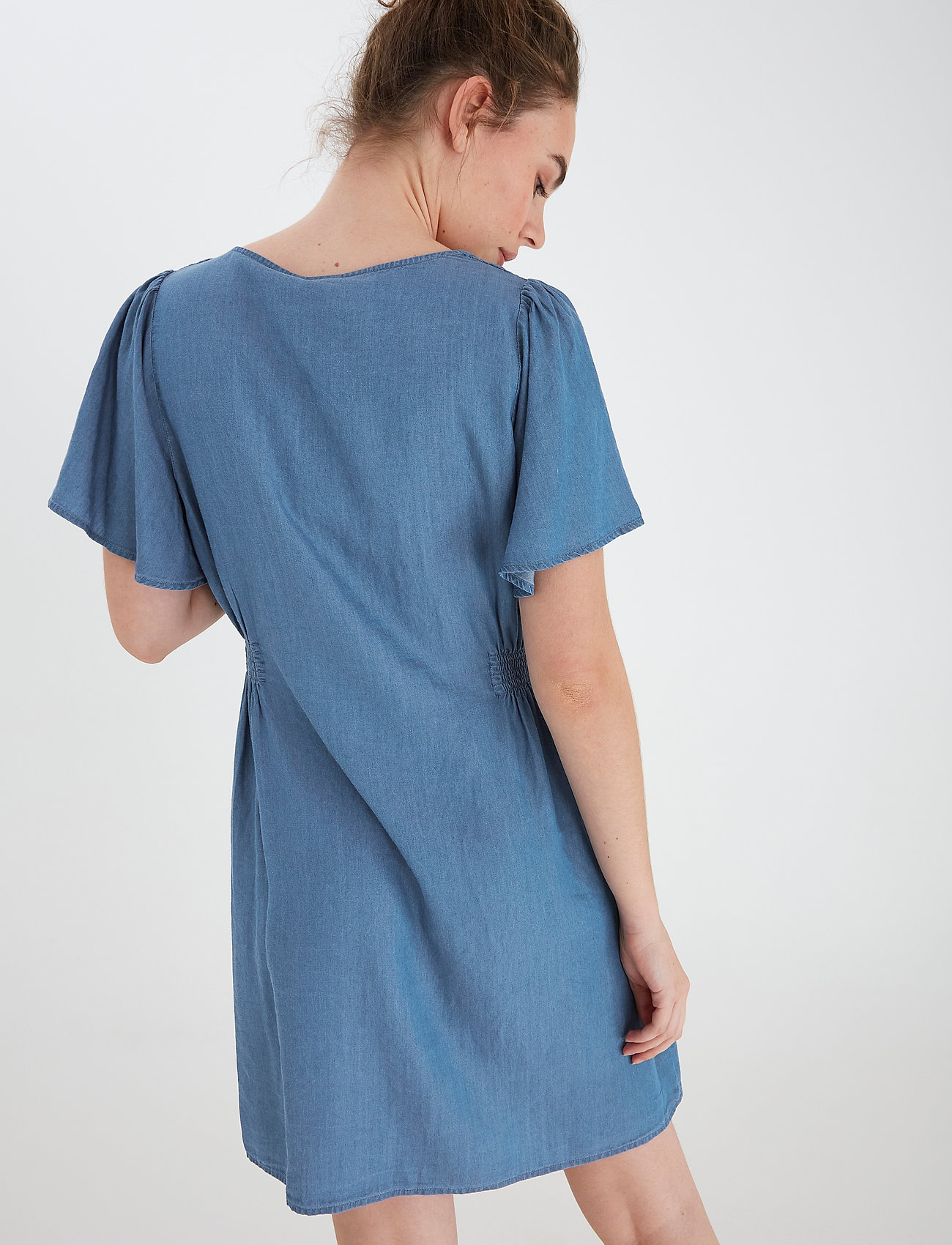 ICHI - IHLAMBREY DR3 - summer dresses - medium blue - 4