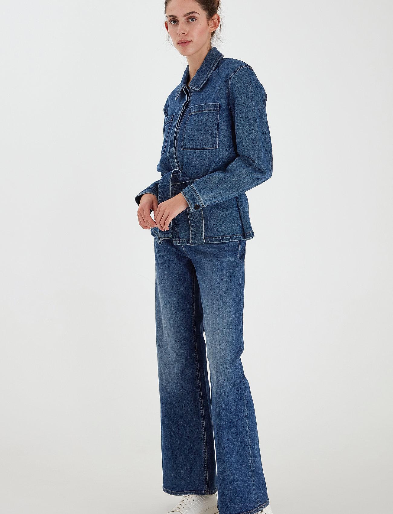 ICHI - IHNICOLE JA - denim jackets - medium blue - 0