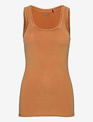 ICHI - IHZOLA TO - sleeveless tops - caramel - 0