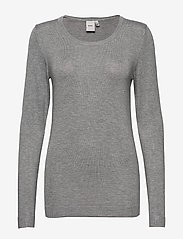 ICHI - IHMAFA ROUND LS - jumpers - grey melange - 0
