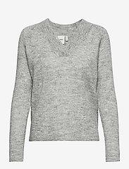 ICHI - IHAMARA V LS - jumpers - grey melange - 0
