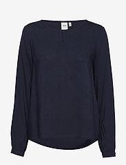 ICHI - IHMAJA LS - long sleeved blouses - total eclipse - 0