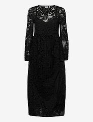 ICHI - IHEBONIQUE DR - midi dresses - black - 0