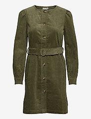 ICHI - IHJORELLE DR - shirt dresses - deep lichen green - 0