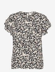 ICHI - IHMARRAKECH AOP SS4 - short-sleeved blouses - tan - 0