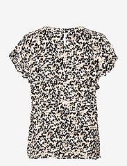ICHI - IHMARRAKECH AOP SS4 - short-sleeved blouses - tan - 1