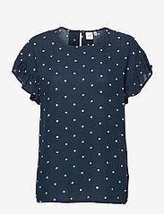 ICHI - IHMARRAKECH AOP SS4 - short-sleeved blouses - total eclipse dot - 0