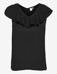 ICHI - IHMARRAKECH SO TO3 - short-sleeved blouses - black - 1