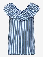 ICHI - IHMARRAKECH AOP TO3 - short-sleeved blouses - coronet blue - 0