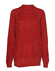 IHMARAT T-NECK LS2 - POMPEIAN RED