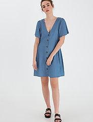 ICHI - IHLAMBREY DR3 - summer dresses - medium blue - 0