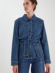 ICHI - IHNICOLE JA - denim jackets - medium blue - 3