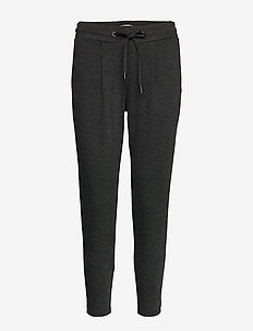 IHKATE PA CROPPED - casual trousers - dark grey melange