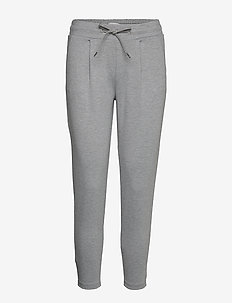 IHKATE PA CROPPED - casual trousers - grey melange