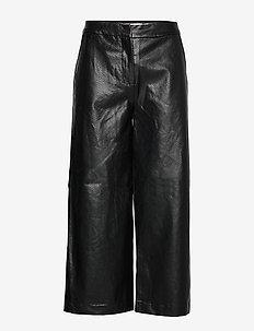 IHIDASSAR PA - spodnie skórzane - black
