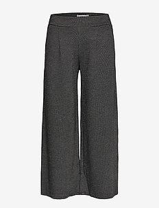 IHKATE JACQUARD PA - uitlopende broeken - black