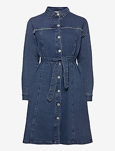 IHGULIA DR MED BLUE - denim dresses - medium blue