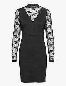 IHKATE LACE DR2 - bodycon dresses - black
