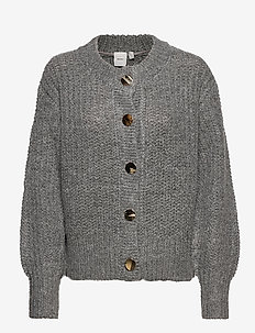 IHOSANNA CA - cardigans - grey melange