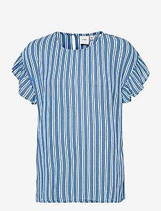 IHMARRAKECH AOP SS4 - short-sleeved blouses - coronet blue