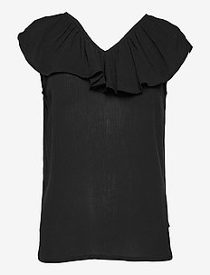 IHMARRAKECH SO TO3 - short-sleeved blouses - black
