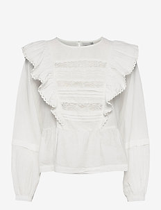 IHVAIANA LS - long sleeved blouses - cloud dancer