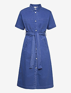 IHMAZIE DR - summer dresses - washed blue, denim