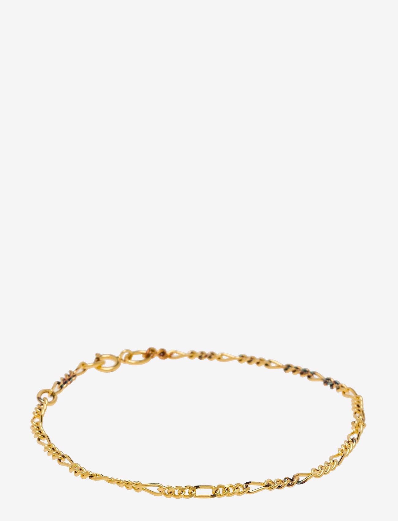 ID Fine Jewelry - Figaro Chain Bracelet - Gold - dainty - gold - 1
