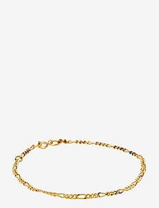 Figaro Chain Bracelet - Gold - dainty - gold