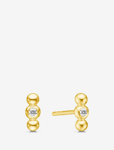 Bubbly Earstuds Gold - stud oorbellen - gold