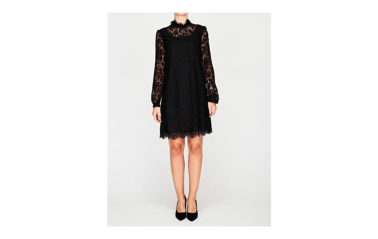 32 Polyester Dress Black 68 100 Hannah Acetateétate Doublure Coquille Sjöstedt Ida Extérieure qgPHUU