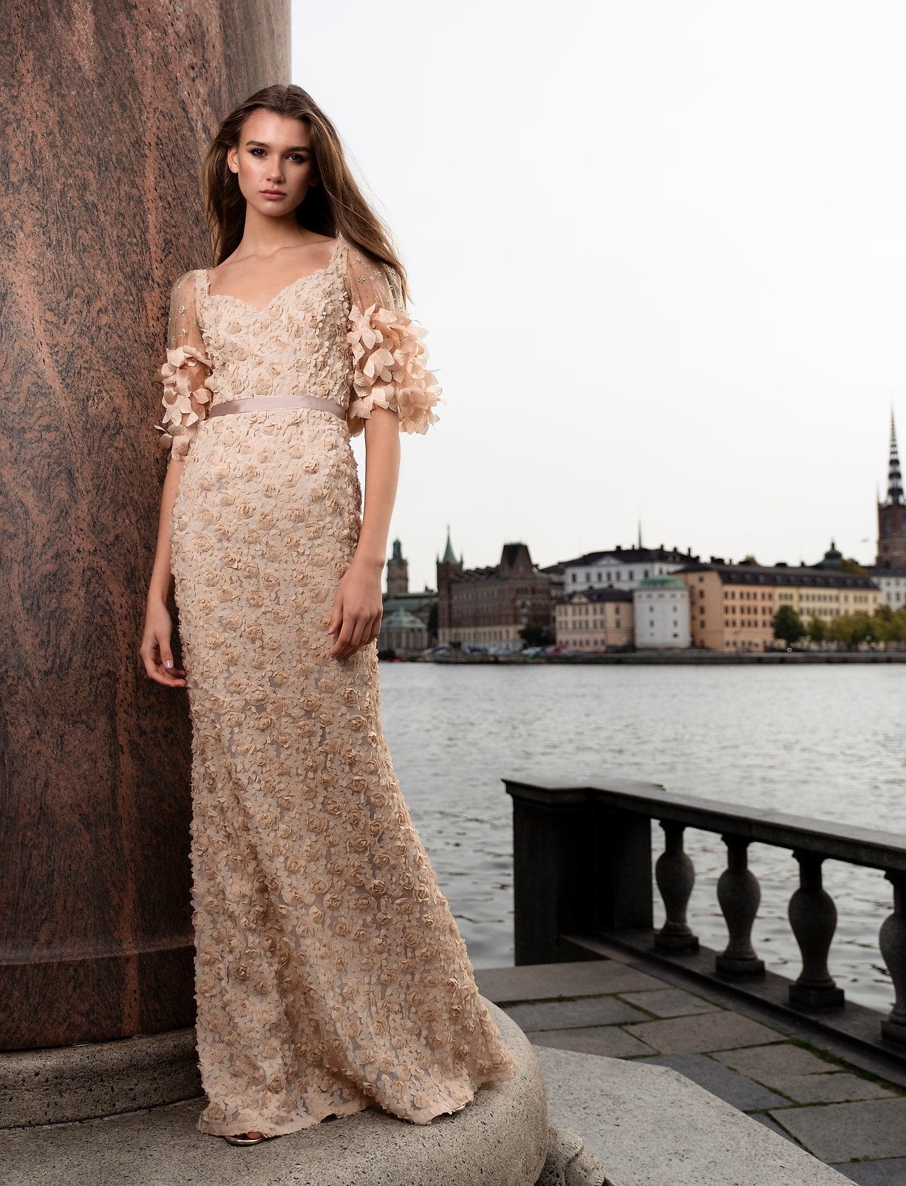 Ida Sjöstedt - Dinara dress - sukienki wieczorowe - beige - 0