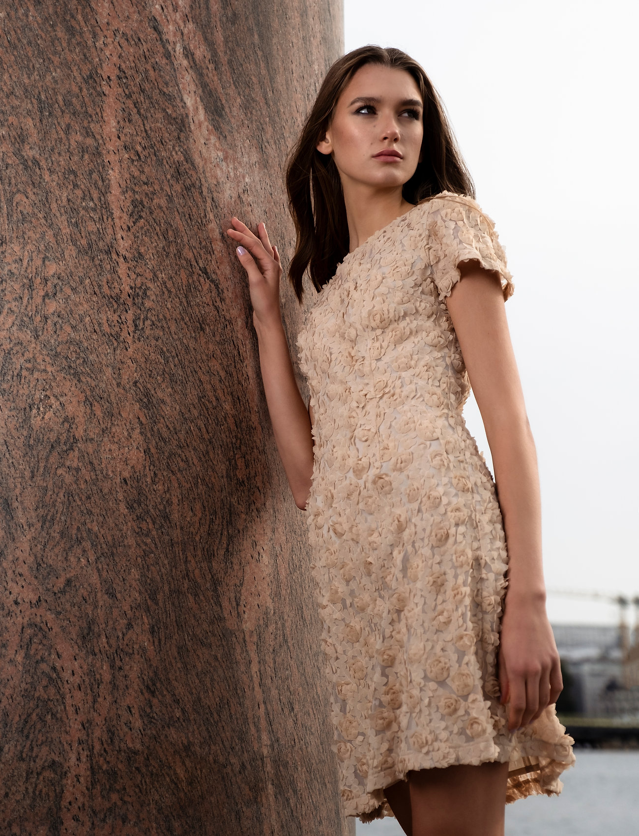 Ida Sjöstedt - Sierra dress - cocktail-kjoler - beige - 0
