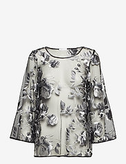 Ida Sjöstedt - Artisan Top - long sleeved blouses - black - 0