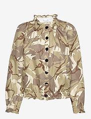 Ida Sjöstedt - Laurel Jacket - leather jackets - camo sand - 1