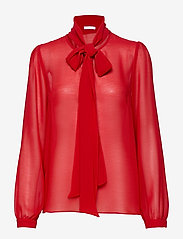 Ida Sjöstedt - Peony Blouse - long sleeved blouses - red - 0