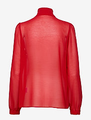 Ida Sjöstedt - Peony Blouse - long sleeved blouses - red - 1