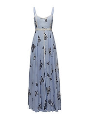 Calista Dress - Pale blue butterfly