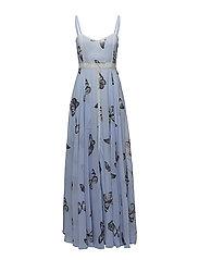Calista Dress - Pale blue butterfly