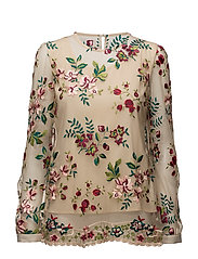 Kasey Blouse - Cream/red