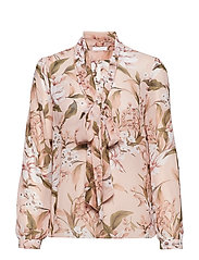 Peony Blouse - BEIGE FLORAL