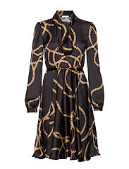 Shiver Dress - BLACK/GOLD