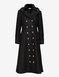Abbey Coat - ullkåper - black