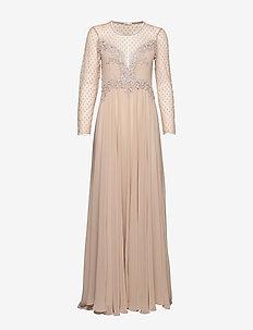 Alicia Dress - sukienki wieczorowe - beige