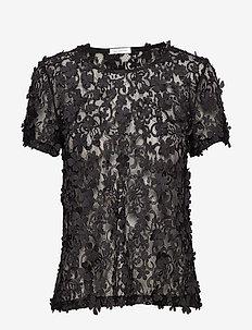 Biscotti Top - blouses med korte mouwen - black