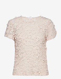 Biscotti Top - blouses à manches courtes - pink/silver