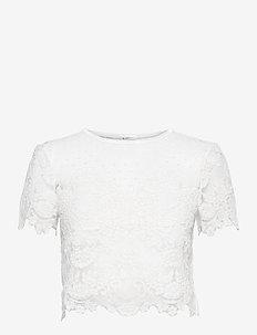 Jane Top - blouses met korte mouwen - ivory