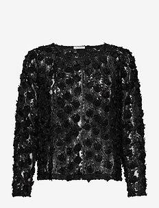 Jennifer Top - long sleeved blouses - black