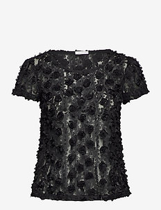 Julie Top - blouses med korte mouwen - black
