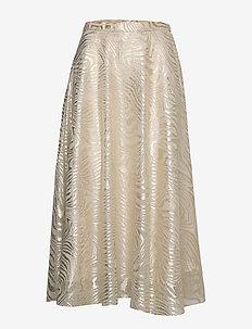 Lena Skirt - midi - grey/gold